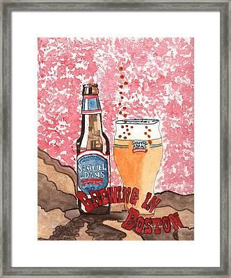 Beer From A Bottle No.6 Framed Print