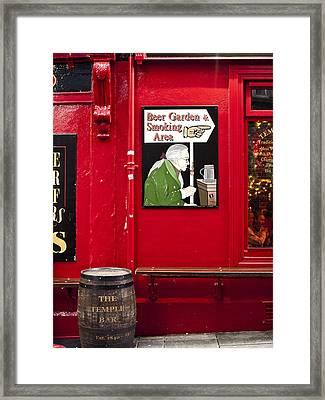 Beer Garden Smoking Area Framed Print by Rae Tucker