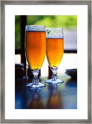 Beer Glass Framed Print by Sakura_chihaya+
