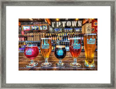 Beer Glasses Framed Print by Chris Lawrence