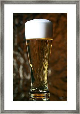 Beer God's Gift To Man Framed Print by Michael Ledray