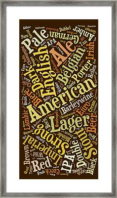 Beer Lover Cell Case Framed Print
