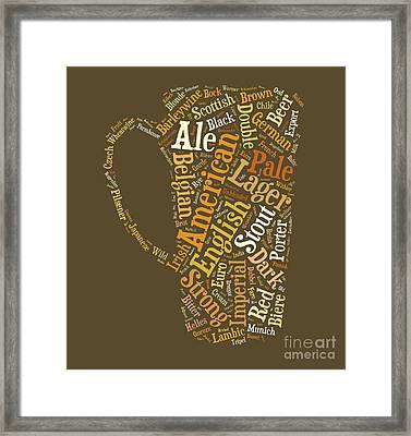 Beer Lovers Tee Framed Print by Edward Fielding