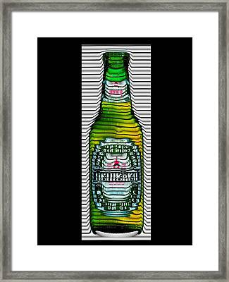 Beer Ripples Framed Print by David Balber