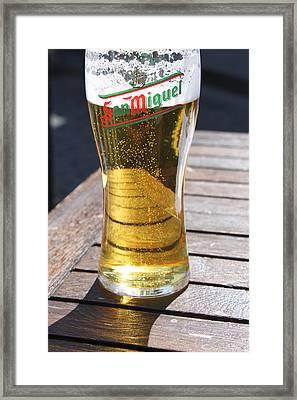 Beer Shadows Framed Print by Lauri Novak