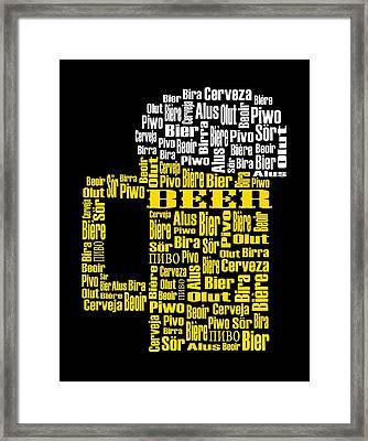 Beer  Framed Print by Shirley Radabaugh