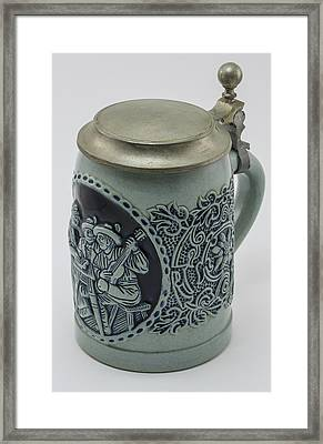 Beer Stein With Lid Framed Print