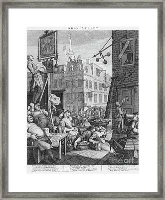 Beer Street, 1751 Framed Print
