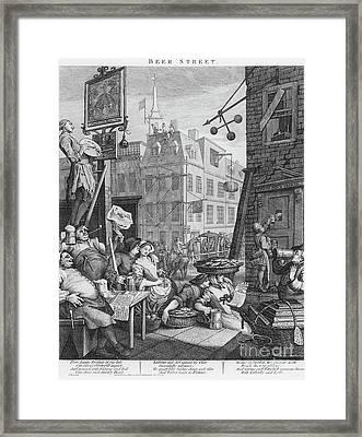 Beer Street, 1751 Framed Print by William Hogarth