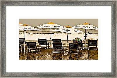 Beer Surf Framed Print