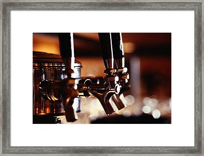 Beer Taps Framed Print by Ryan McVay