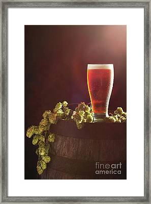Beer With Hops Framed Print by Amanda Elwell