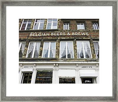 Beers And Brews Are Big In Belgium Framed Print by Claudia O'Brien