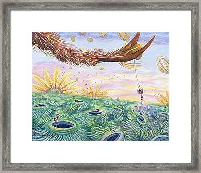 Bee's Foot Framed Print by Shoshanah Dubiner