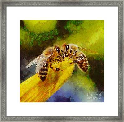 Bees For Life By Sarah Kirk Framed Print