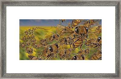 Bees Framed Print by Tom Wrenn