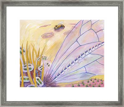 Bee's Wings Framed Print by Shoshanah Dubiner