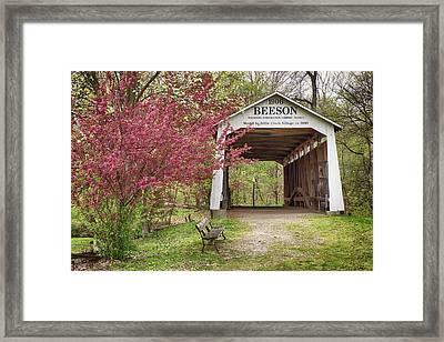 Beeson Covered Bridge Framed Print