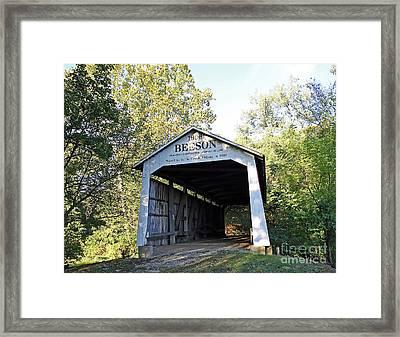 Beeson Covered Bridge Indiana Framed Print