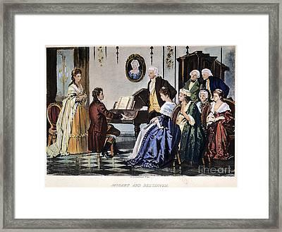 Beethoven & Mozart, 1787 Framed Print by Granger