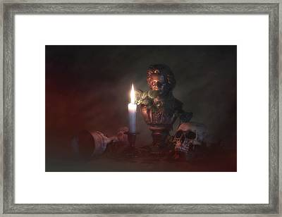 Beethoven By Candlelight Framed Print by Tom Mc Nemar
