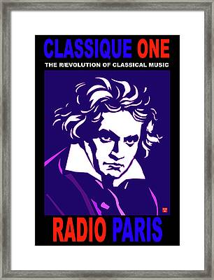 Beethoven Classique One Radio Paris  Framed Print