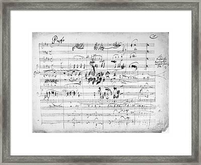 Beethoven: Ghost Trio Framed Print by Granger