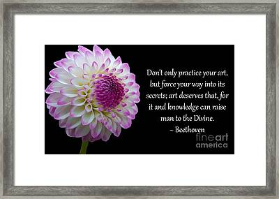 Beethoven's Don't Only Practice Your Art Framed Print
