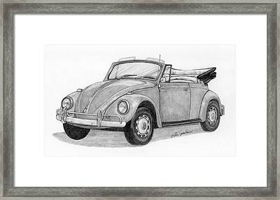 Beetle Convertible Framed Print by Rita Palmer
