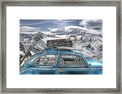 Beetle In The Alps Framed Print by Joachim G Pinkawa