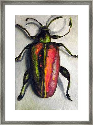 Beetle Framed Print by Leah Saulnier The Painting Maniac