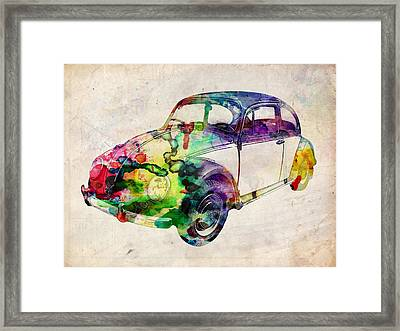 Beetle Urban Art Framed Print