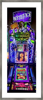 Beetlejuice Slot Machine Lumiere Place Casino Framed Print by David Oppenheimer