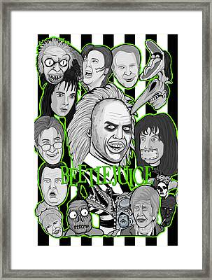 Beetlejuice Tribute Framed Print by Gary Niles