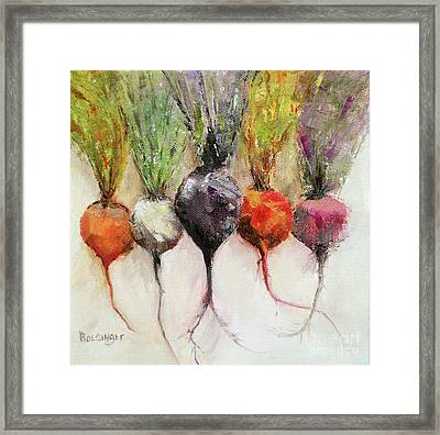 Beets II Framed Print by Cindy Roesinger