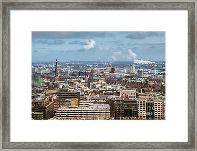 Befor A Snow Storm Hamburg Framed Print