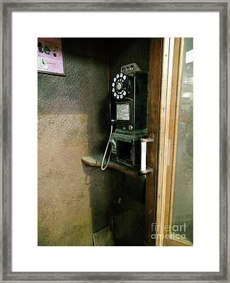 Before Cell Phones  Framed Print by Steven Digman