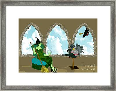 Before Dorothy Framed Print by Methune Hively