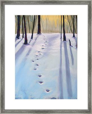 Before Dusk In Deep Snow Framed Print by Christine Camp