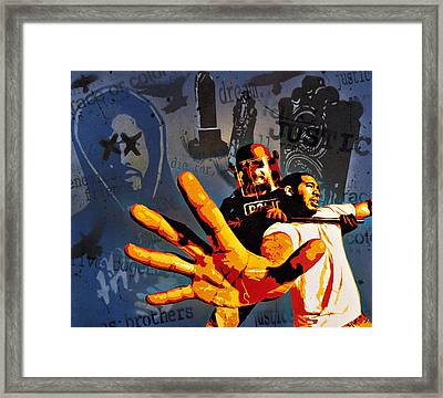 Before Enemies Become Friends Framed Print by Tai Taeoalii