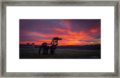 Before Sun Up The Iron Horse Collection Art Framed Print