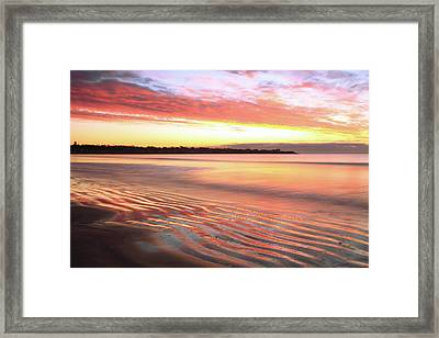 Framed Print featuring the photograph Before Sunrise At First Beach by Roupen  Baker