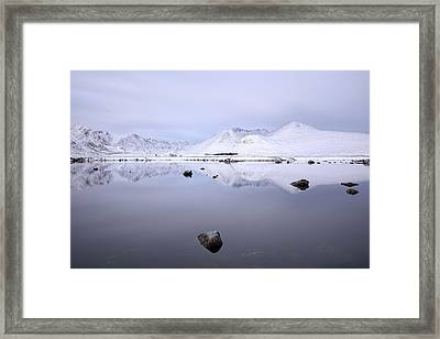 Framed Print featuring the photograph Before Sunrise, Glencoe by Grant Glendinning