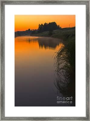 Before Sunrise On The River Framed Print by Veikko Suikkanen