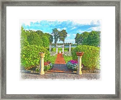 Framed Print featuring the digital art Before The Ceremony Begins by Digital Photographic Arts