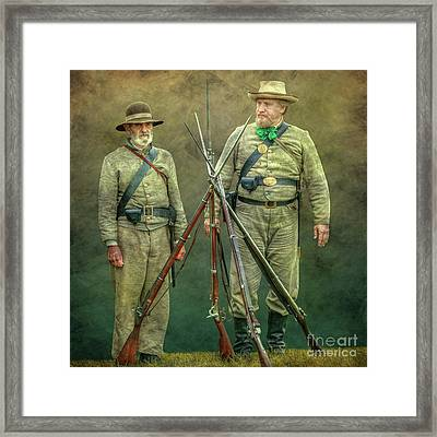 Before The Charge Framed Print by Randy Steele