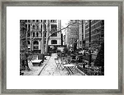 Before The Crowds At Bryant Park Framed Print by John Rizzuto
