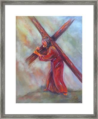 Jesus, Before The Darkest Hour, Framed Print