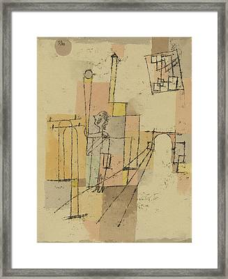 Before The Festivity Framed Print by Paul Klee