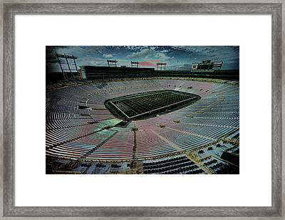 Before The Game At Lambeau Framed Print by Lawrence Christopher